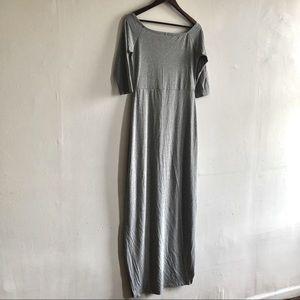 Heather Gray Off Shoulder Resort Long Maxi Dress